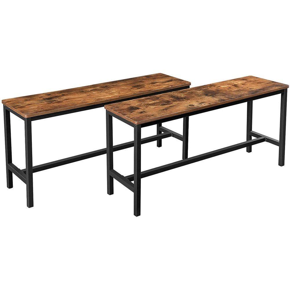 Tables-bancs ensemble de 2  L108 x P32.5 x H50 cm
