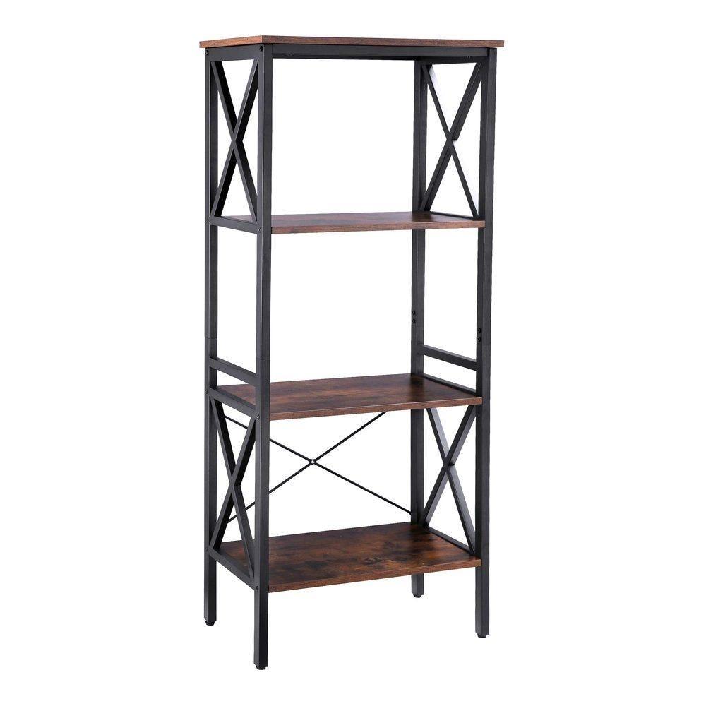 Etagère metal-bois L56 x P34 x H131 cm