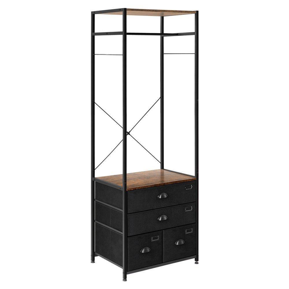 Etagère armoire avec tiroir et tringle de suspensionL63 x P45 x H180cm