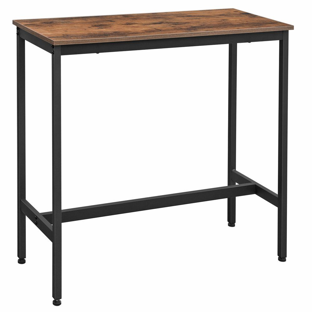 Table haute bois et métal L100 x P40 x H90 cm