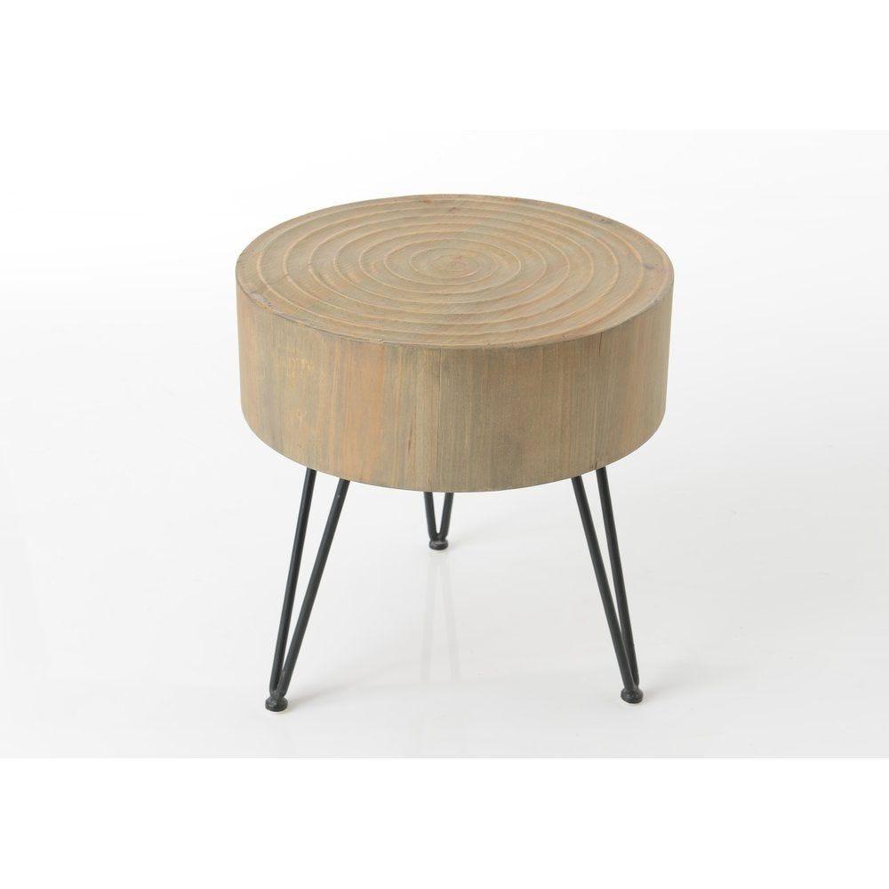 Table bout de canapé rondin Ø40 x 41cm