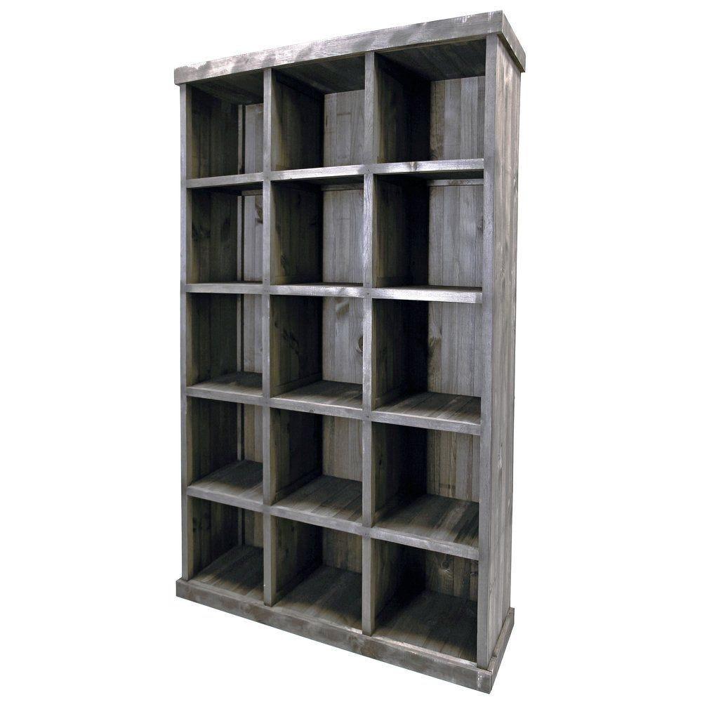 Armoire 15 cases L117 x P38 x H200cm gris clair