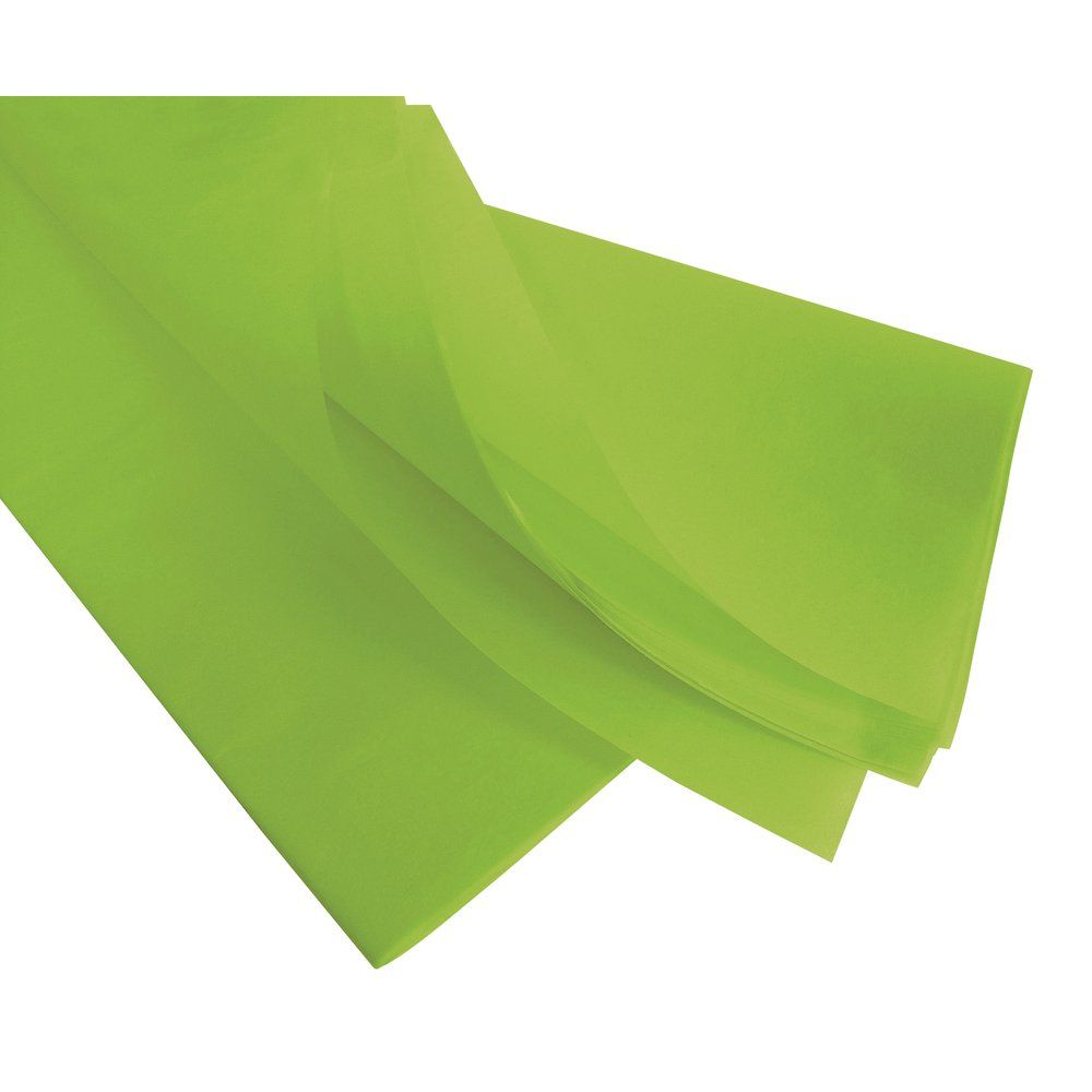 Papier de soie 50  x 75 cm vert pomme - 240 feuilles (photo)