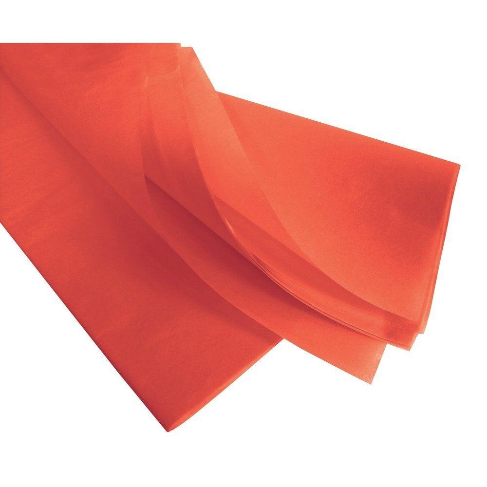 Papier de soie 50  x 75 cm  orange - 240 feuilles (photo)