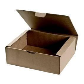 Boite postale brune 27 x 17 x 10 cm par 20 (photo)