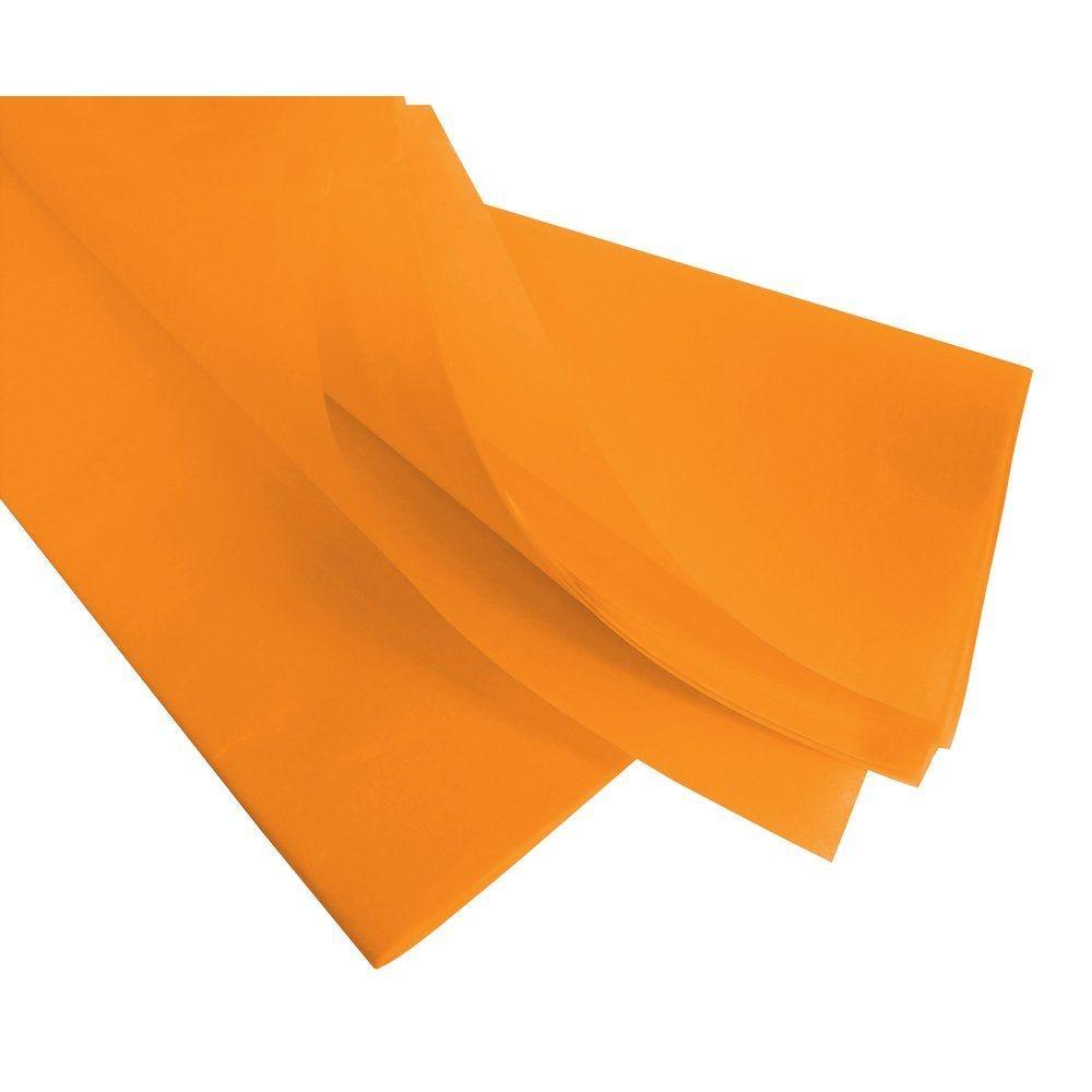 Papier de soie 50  x 75 cm - safran (photo)