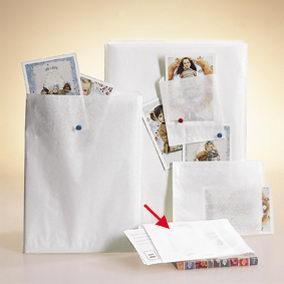 Pochette blanchies 12x19cm par 1000 (photo)