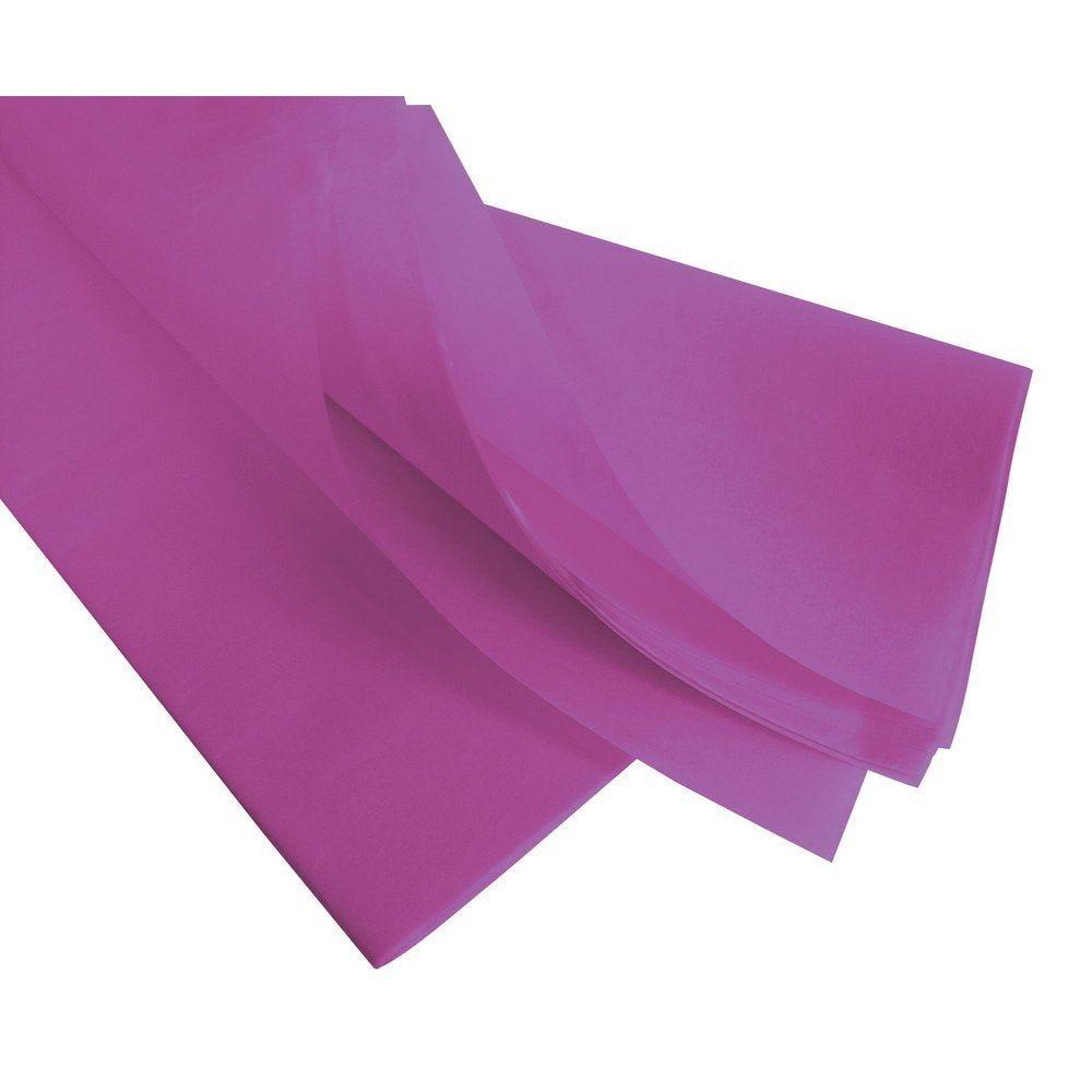 Papier de soie 50  x 75 cm  parme - 240 feuilles (photo)
