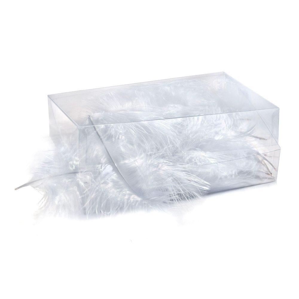 Boîte de plumes blanches - environ 6 gr (photo)