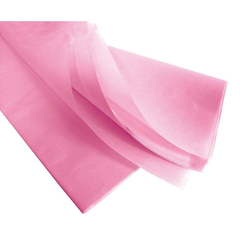 Papier de soie 50  x 75 cm - rose pâle - 240 feuilles (photo)