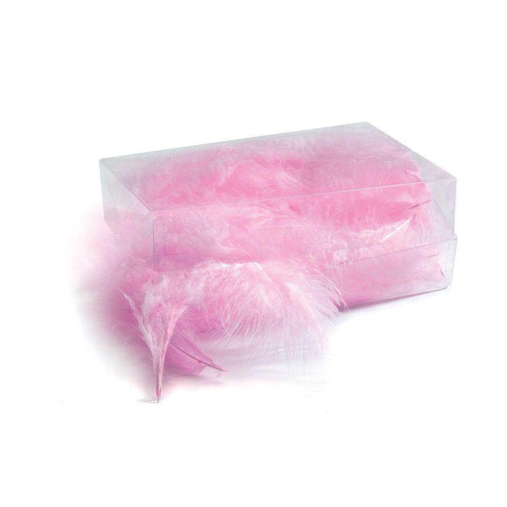 Boîte de plumes roses - environ 6 gr (photo)