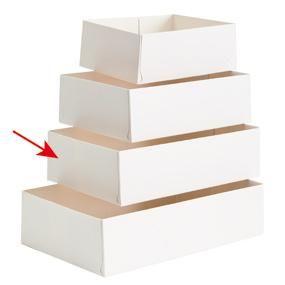 Caissette patissière carton blanc 18x12x5cm par 100 N°18 (photo)