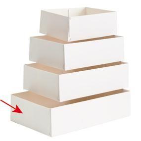 Caissette patissière carton blanc 20x13x5cm par 100 N°20 (photo)