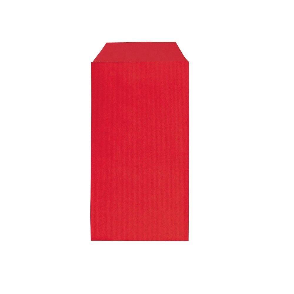 Sachets kraft rouge 7x12cm - par 250