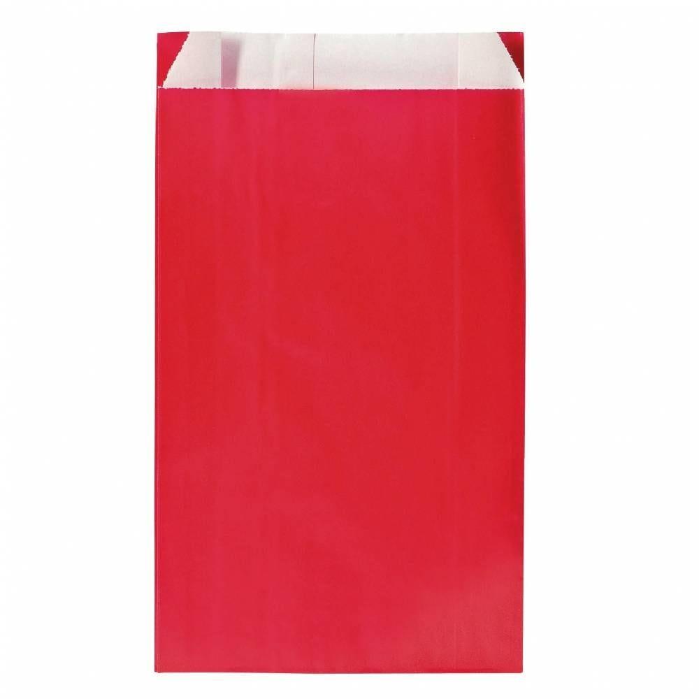 Sachets kraft rouge12x4.5x20cm - par 250