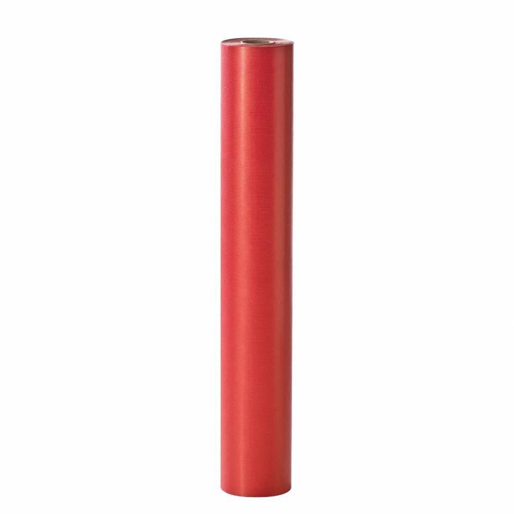 Papier cadeau kraft rouge 0.70x100m (photo)