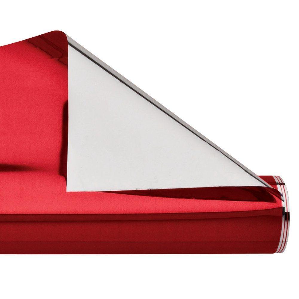 Polypro rouge et argent 70cm x 50m (photo)