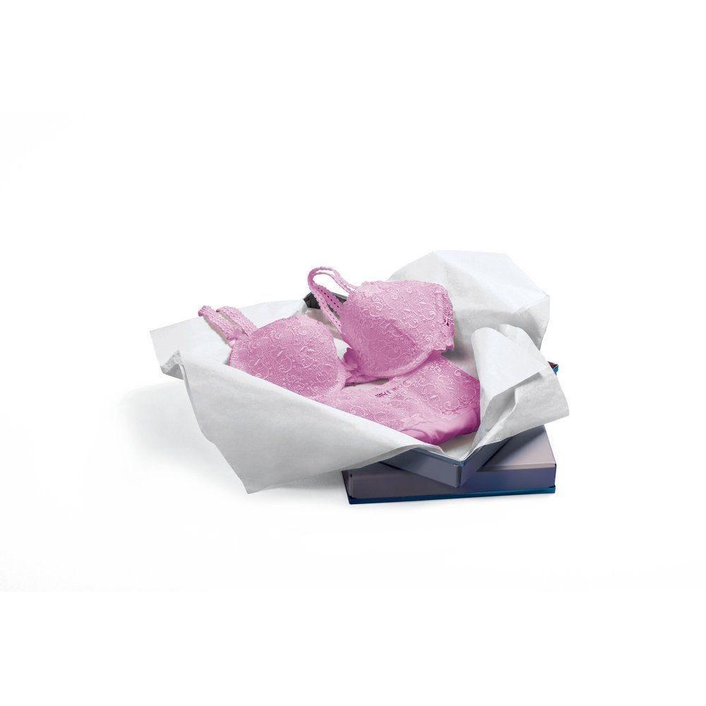 Papier de soie blanc 50 x 65 cm - 1000 feuilles (photo)