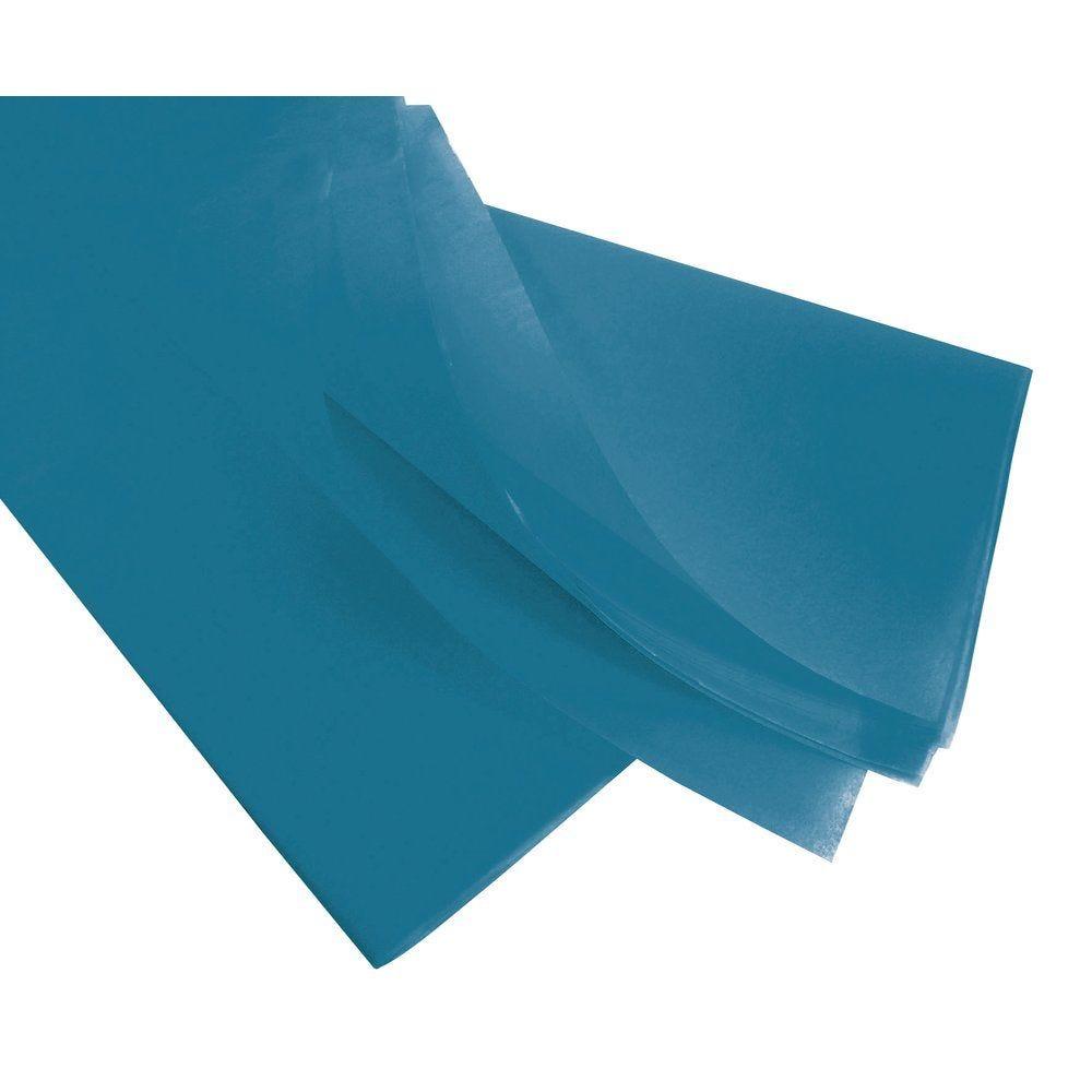 Papier de soie 50 x 75 cm - turquoise (photo)