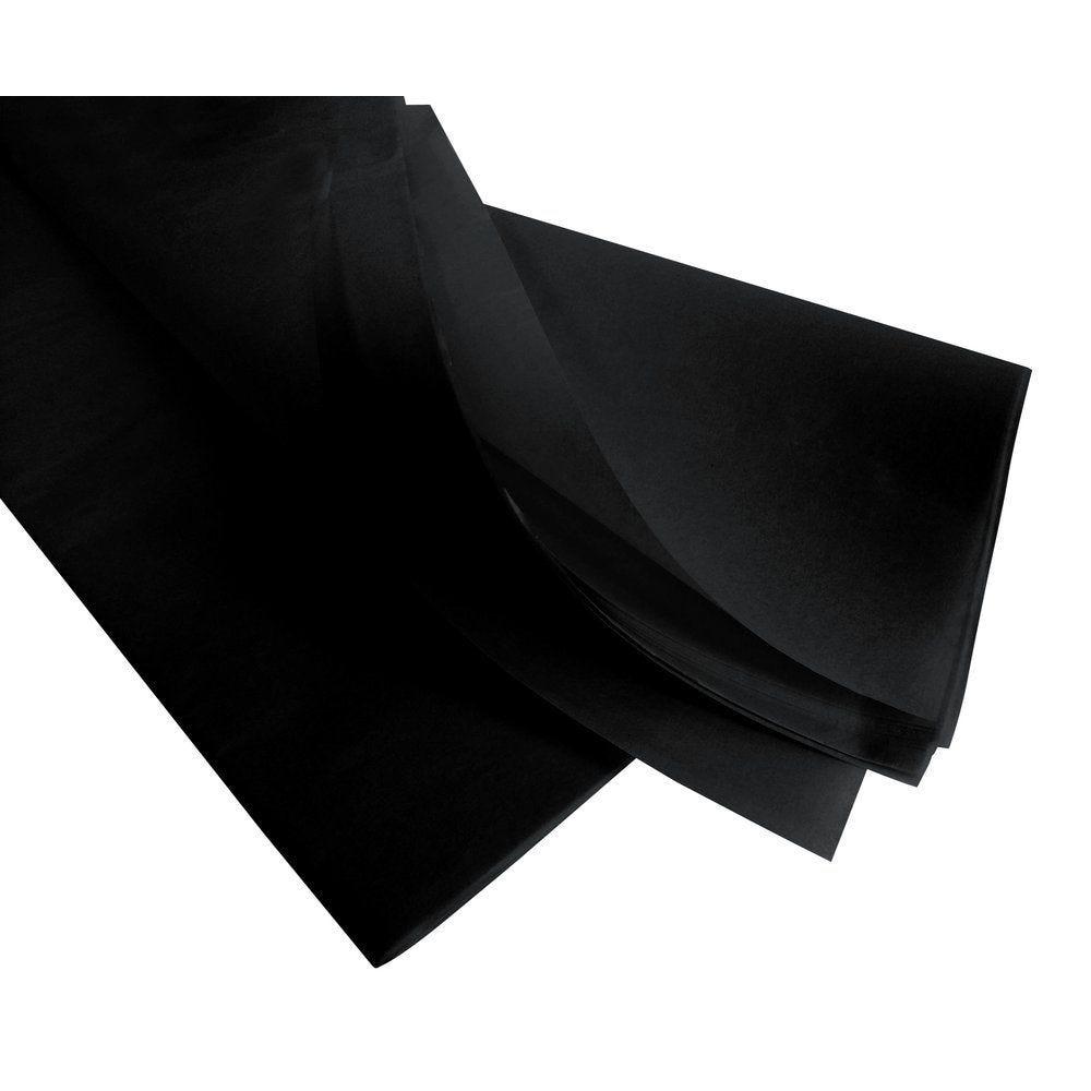 Papier de soie 50  x 75 cm - noir (photo)