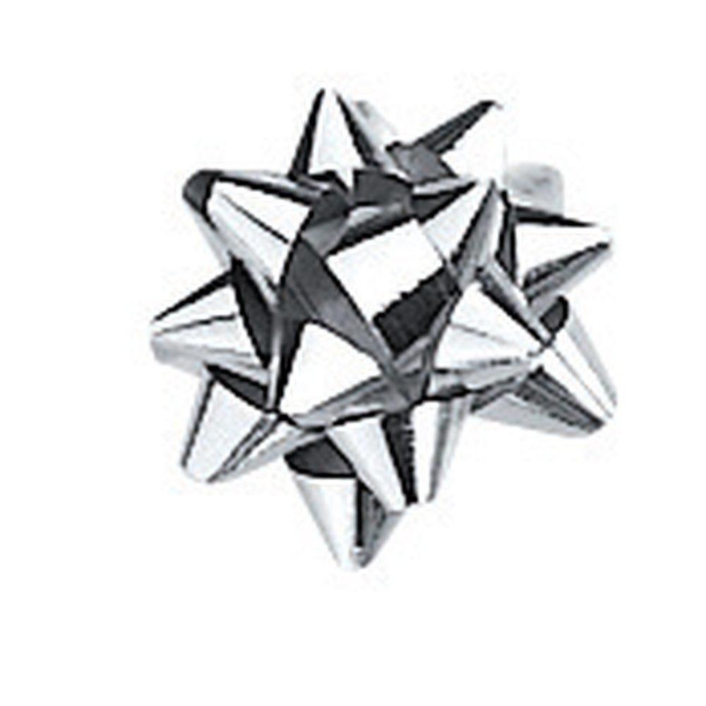 Etoiles adhésives miroir argent diam.35mm (photo)