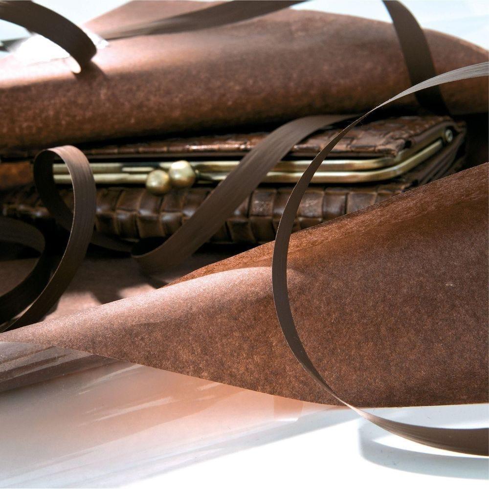 Papier de soie 50 x 75 cm - chocolat (photo)