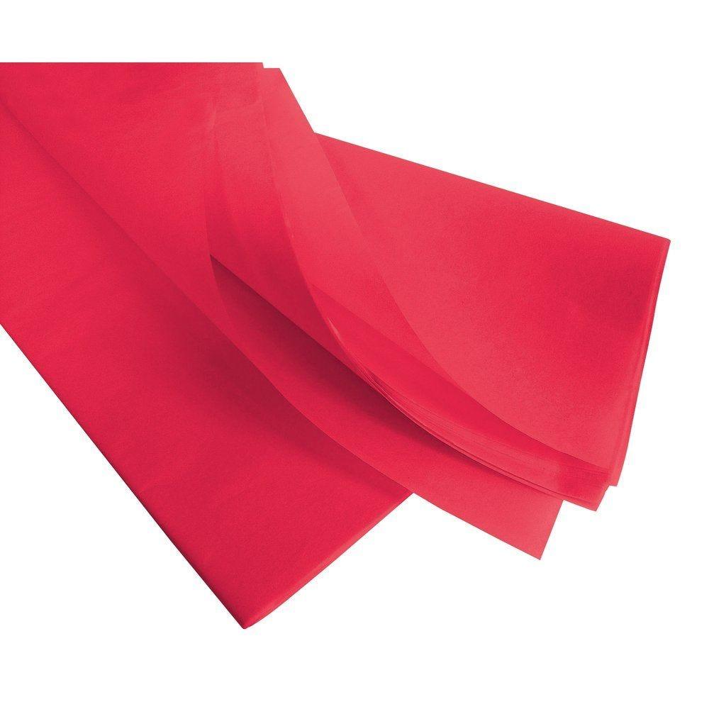 Papier de soie 50  x 75 cm - rouge écarlate 240 feuilles (photo)