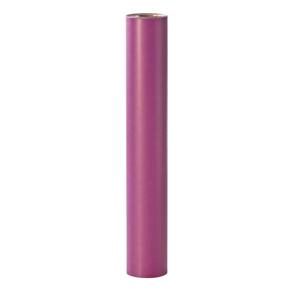 Rouleau papier cadeau kraft pivoine - 100 m x 70 cm (photo)