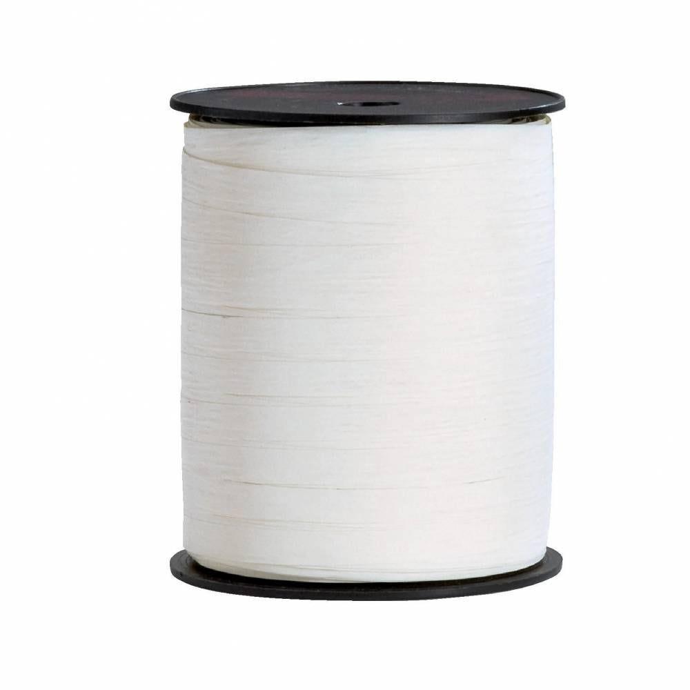 Bolduc  paper synthétique 10mm x 250m blanc (photo)