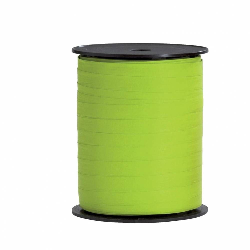 Bolduc  paper synthétique 10 mm x 250 m vert anis (photo)