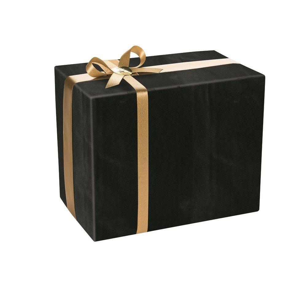 Rouleau papier cadeau kraft noir 200 mx50cm (photo)