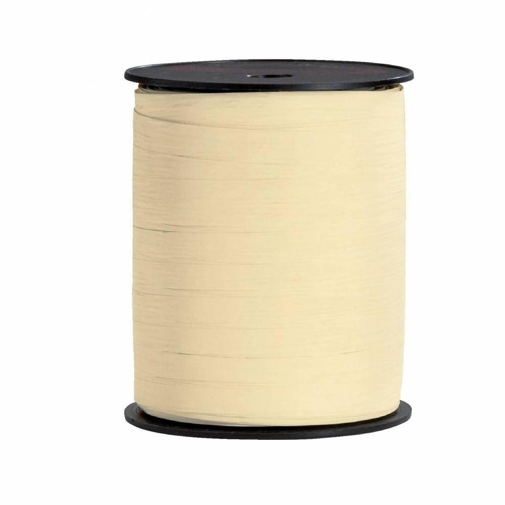 Bolduc  paper synthétique 10 mm x 250 m ivoire (photo)