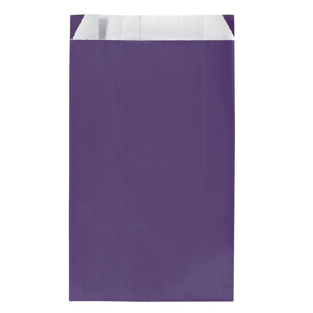 Sachets kraft violet - 12x4,5x20, 5cm - par 250