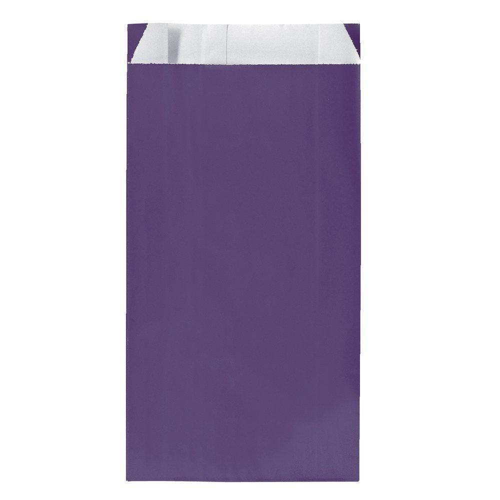 Sachets kraft violet 17x7x26cm - par 250