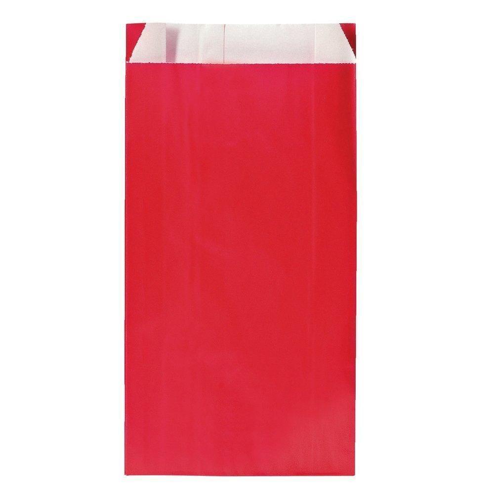 Sachets kraft rouge - 17x7x26cm - par 250