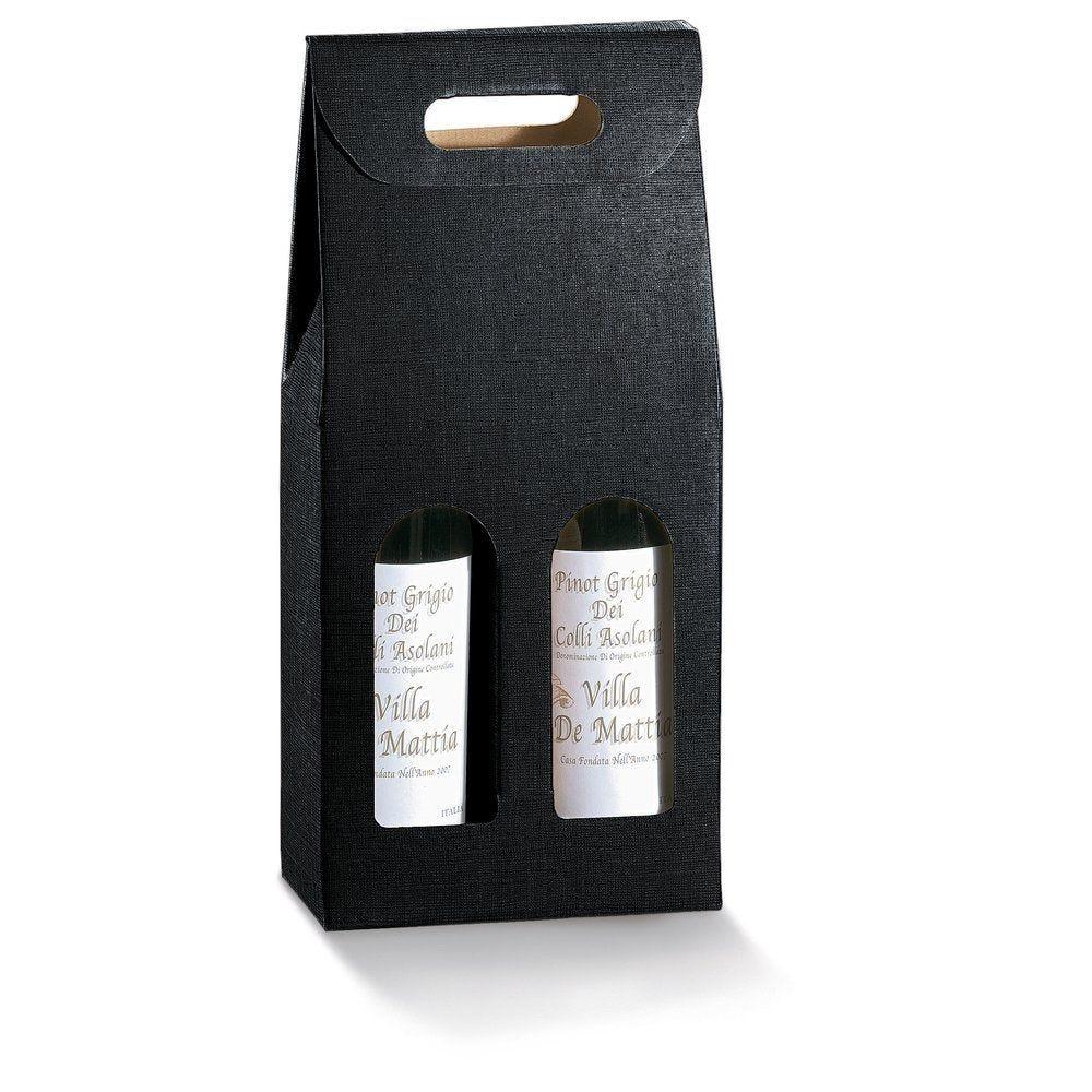Boîte 2 bouteilles noir - 18 x 9 x 40 cm - par 10 (photo)