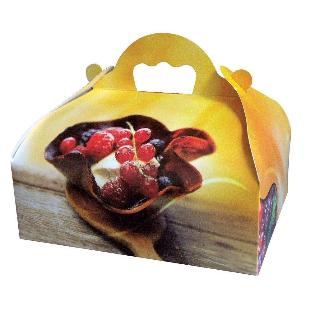 Boîte patissière à poignées tentation n°10 par 50 (photo)