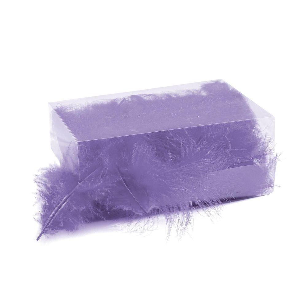 Boîte de plumes lavande +/- 6 gr (photo)