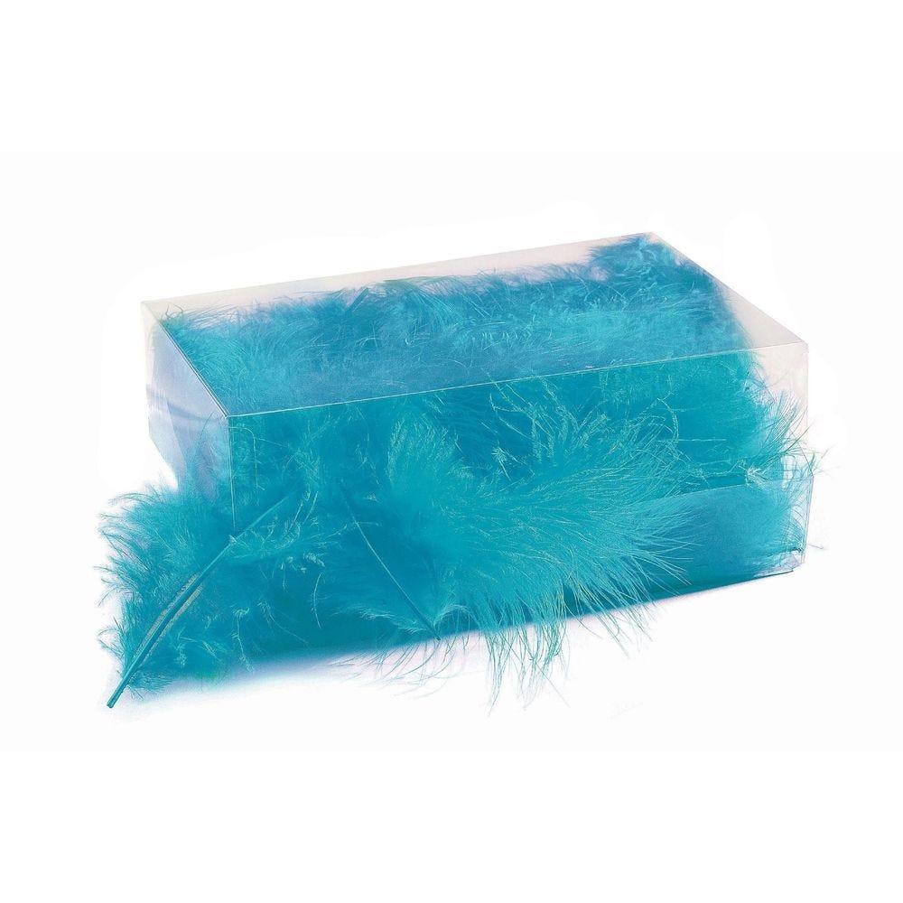 Boîte de plumes turquoise - +/- 6 gr (photo)