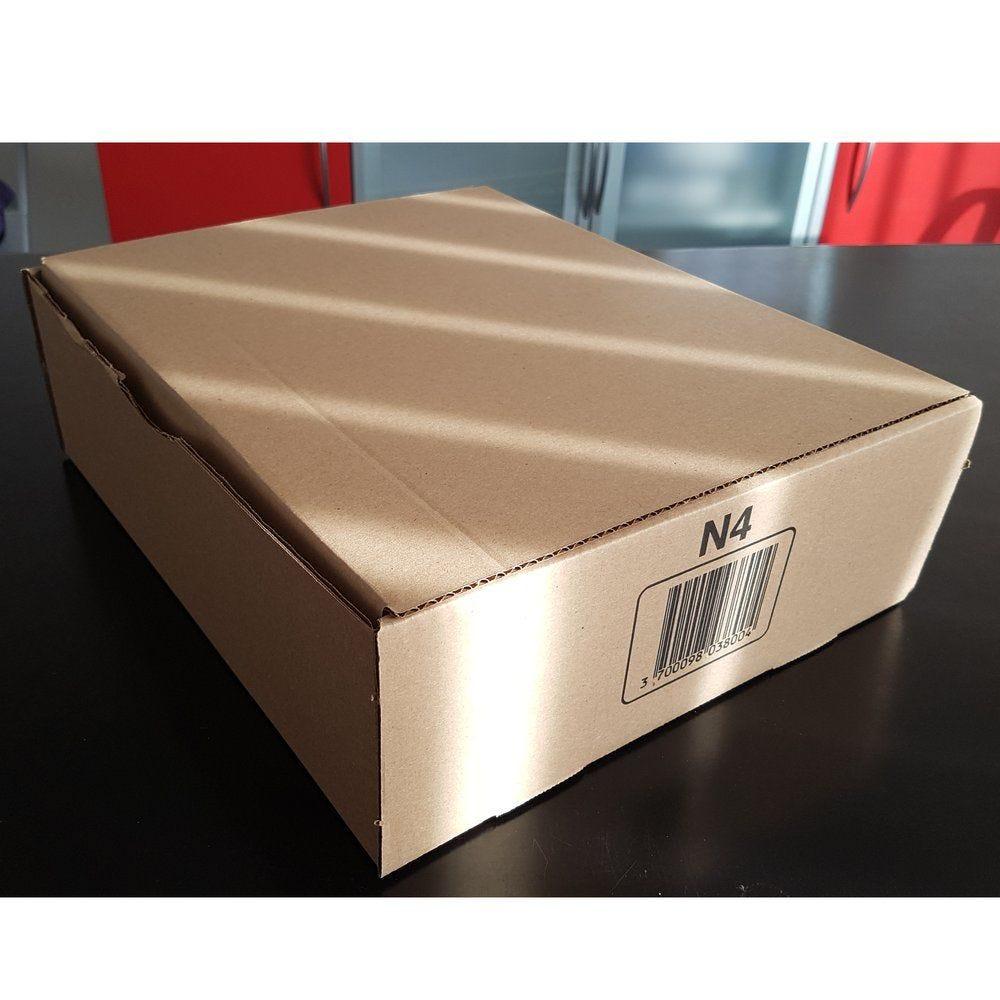 Boîte postale brune- 200 x 140 x 75 mm - par 20 (photo)