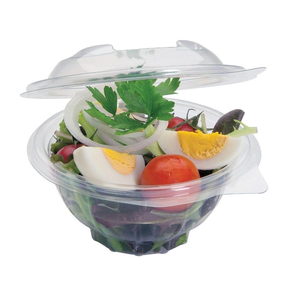 Bol salade avec couvercle - 15.5 x 7.5 cm - Par 50 (photo)