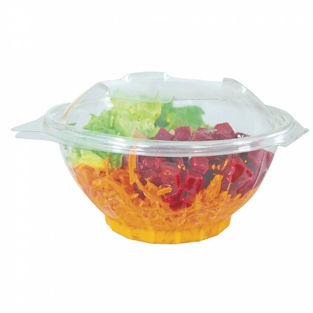 Bol salade avec couvercle - 17 x 8.5 cm - Par 50 (photo)
