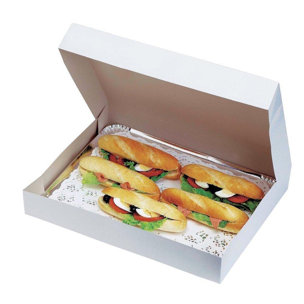 Boîte pour plateaux traiteur blanc 42x28x5cm - par 25