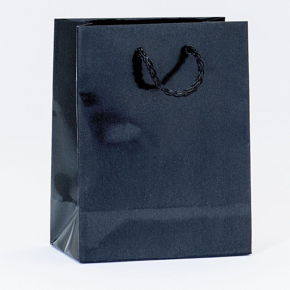Sac Luxe pelliculé noir L11xP6xH14cm - par 12