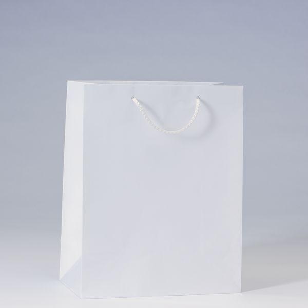 Sac Luxe pelliculé blanc L26 x P13 x H32 cm x 12 157gr (photo)