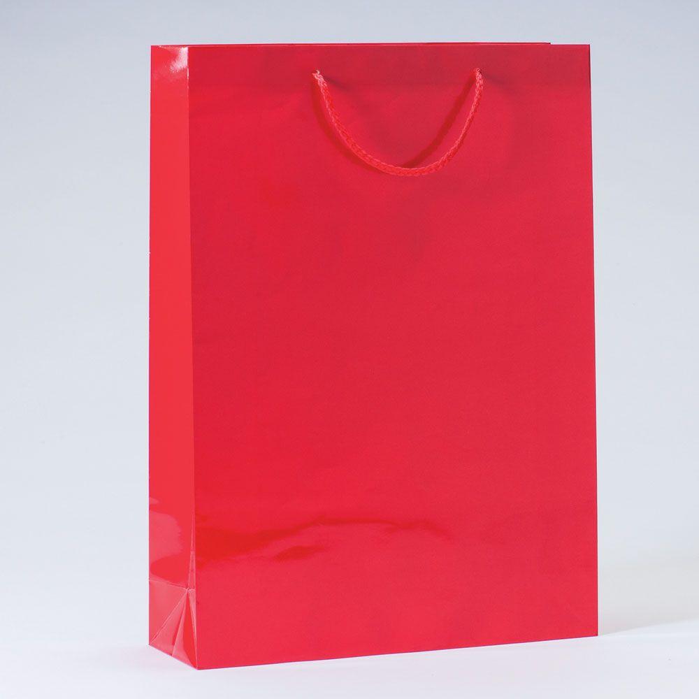 Sac Luxe pelliculé rouge L32 x P10 x H44 cm par 12 (photo)