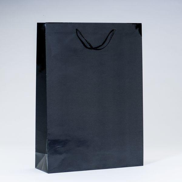 Sac Luxe pelliculé noir L32 x P10 x H44 cm par 12 (photo)