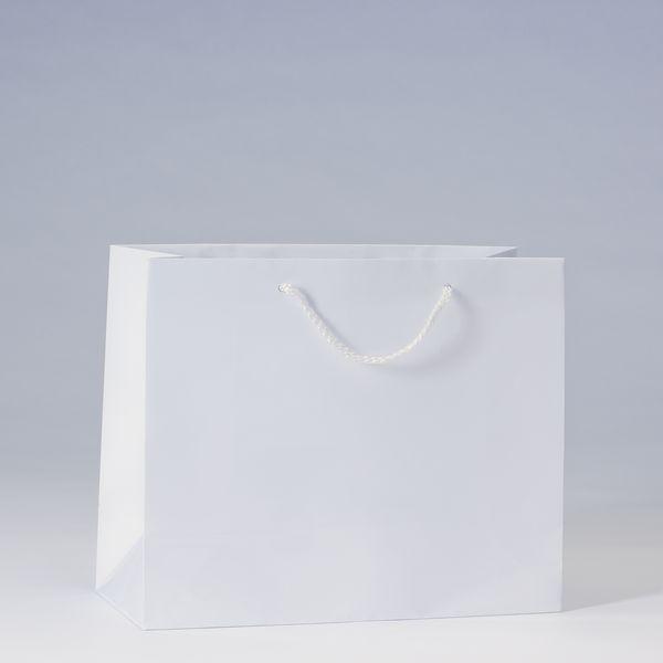 Sac Luxe pelliculé blanc L32 x P13 x H26 cm par 12 (photo)