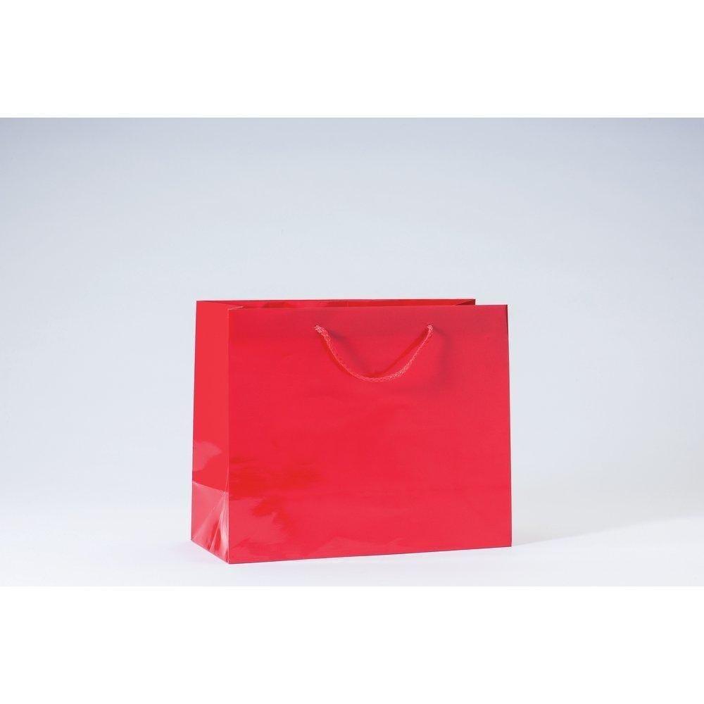 Sac Luxe pelliculé rouge L32 x P13 x H26 cm par 12 (photo)