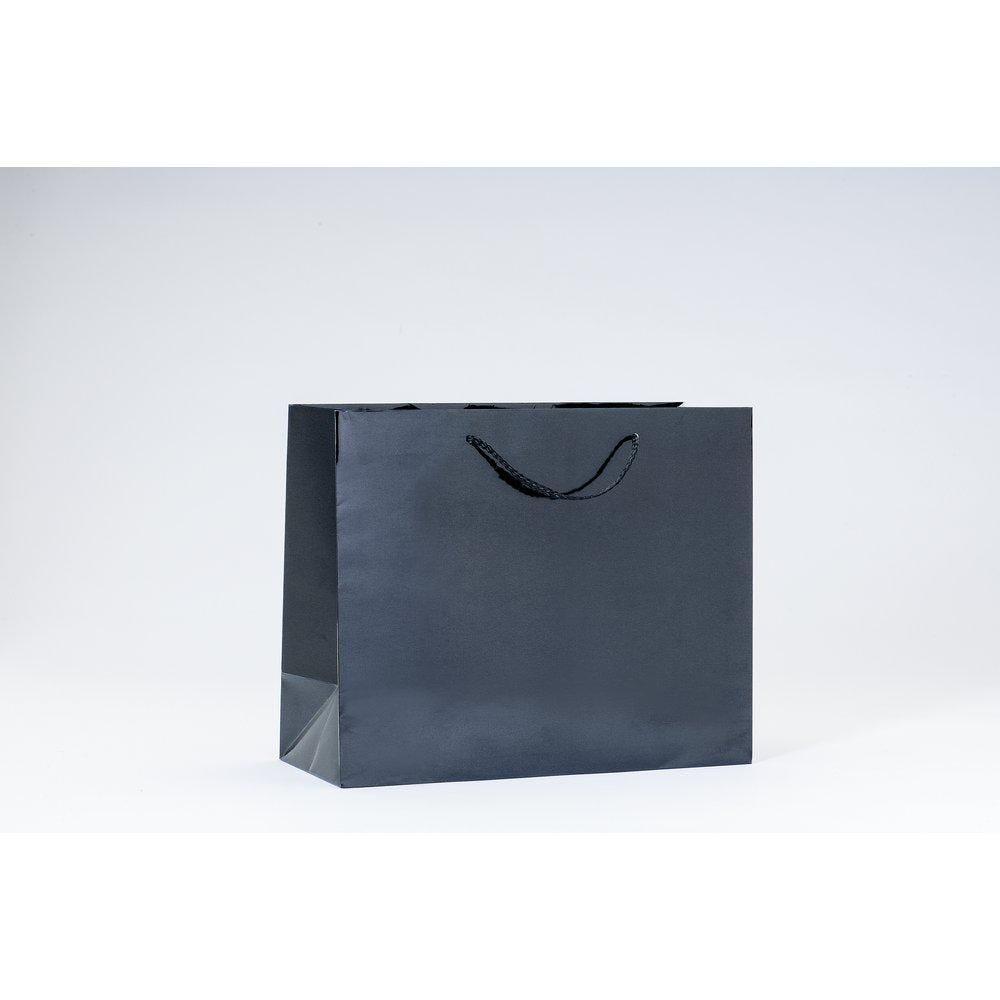 Sac Luxe pelliculé noir L32 x P13 x H26 cm par 12 (photo)